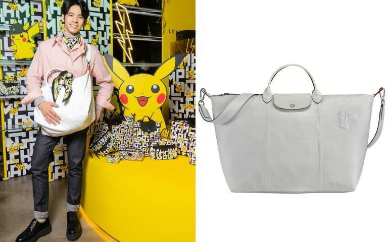 Longchamp x Pokémon聯名系列Le Pliage® Cuir 旅行袋/35,600元。