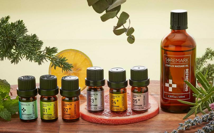 6支精油+1瓶按摩油的東森自然美「樂活精油禮盒套組」,送禮自用都適合。(圖/品牌提供)