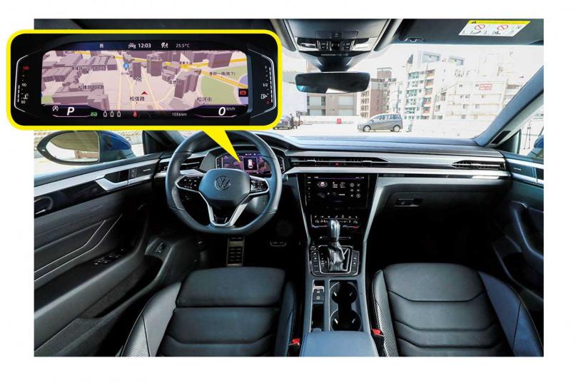 採用10.25吋全邏輯數位化儀表板,除行車資訊外,導航多媒體等資訊都一覽無遺。(圖/馬景平攝)