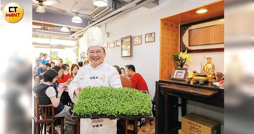 有亞洲第一抗氧化蔬菜之稱的香椿,是樊師傅非常喜歡的食材,近年積極種植。(攝影/馬景平)