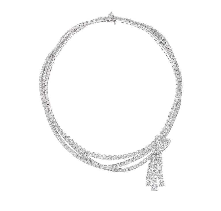 GRAFF「多形切割鑽石項鍊」,價格店洽。(圖╱GRAFF提供)