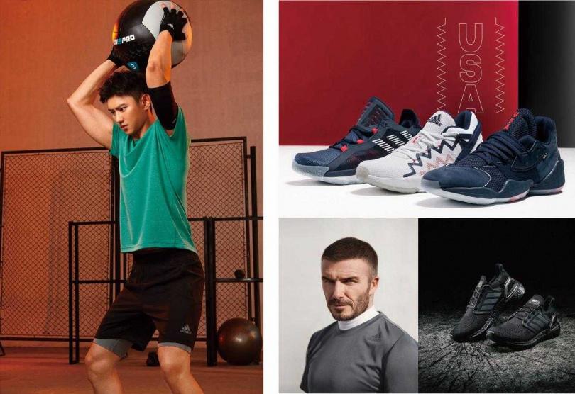 (左) adidas CHILL TEE 綠色T恤/ 1,490元;(右)adidas Ultraboost 20 ALL BLACKS FZ0577球鞋 /6,500元(圖/品牌提供)