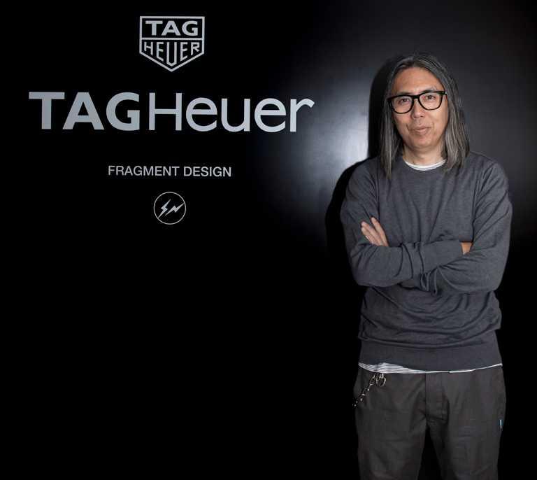 日本時尚設計師藤原浩跨界主理的個人品牌Fragment Design,與TAG HEUER聯名全新限量賽車錶款。(圖╱TAG HEUER提供)