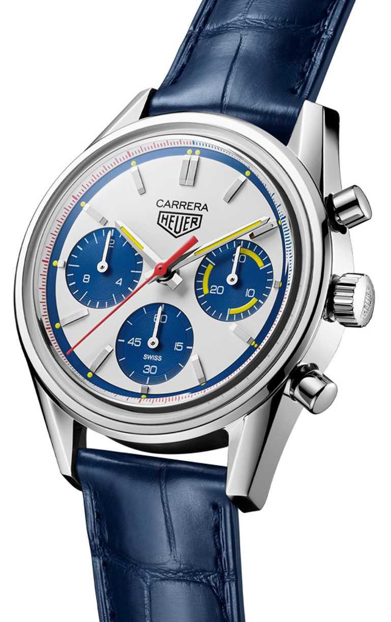 TAG HEUER「Carrera 160周年 Montreal限量版」綠腕錶,精鋼錶殼,39mm,限量1,000只╱222,100元。(圖╱TAG HEUER提供)