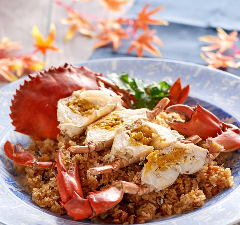 紅蟳米糕。(圖/台北福華大飯店提供)