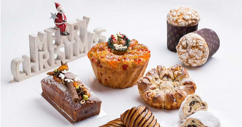 各式耶誕烘焙點心。(圖/台北君悅酒店提供)
