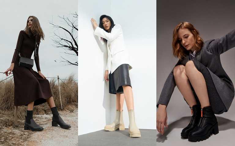 CHARLES & KEITH多款人氣短靴搭配冬季裙裝、褲裝都時髦有型。(圖/CHARLES & KEITH)