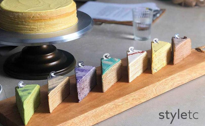 擅長結合多種元素發想新口味,大多以限量方式販售。(千層蛋糕150元起/單片)(圖/店家提供)