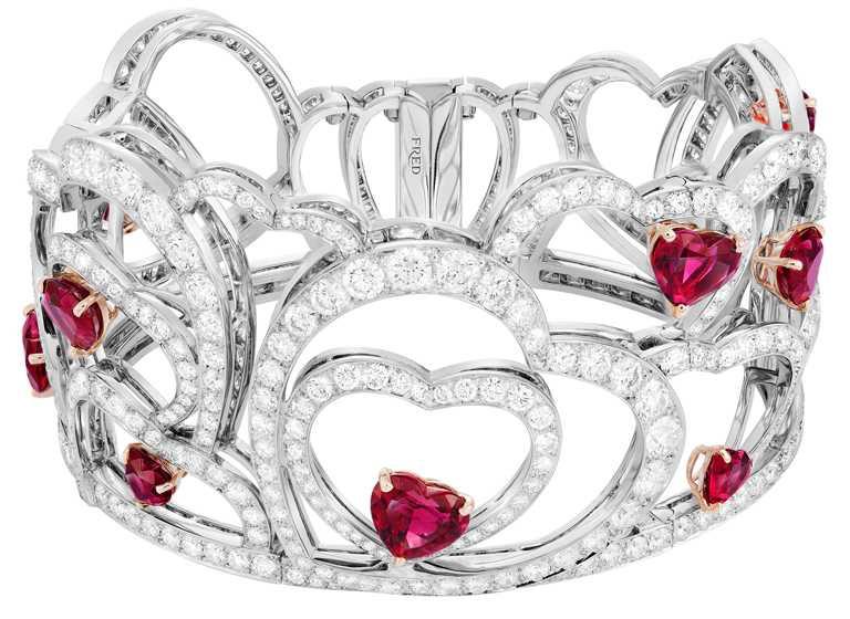 FRED「Pretty Woman」高級珠寶系列,Glamorous手環╱5,636,700元。(圖╱FRED提供)