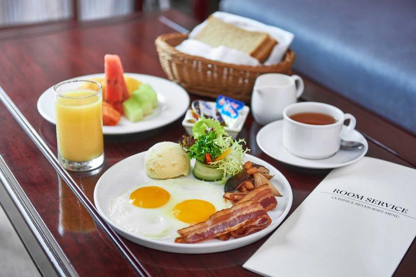 入住即提供「room service早餐(美式)」。