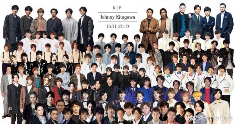 傑尼斯掌控日本男團多年,喜多川死後男團版圖是否變動值得觀察。翻攝自微博