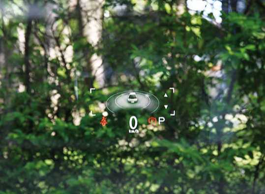 少了儀表板,卻多了ARD擴增實境抬頭顯示系統,基本行車資訊還是能一目了然。(圖/記者王若攝)