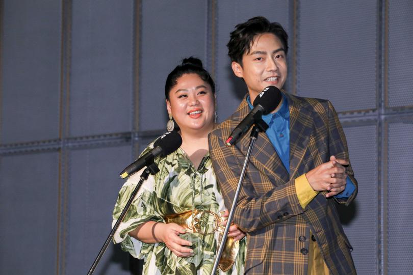 蔡嘉茵(左)、林鶴軒公布台北電影節入圍名單。(攝影/林士傑)