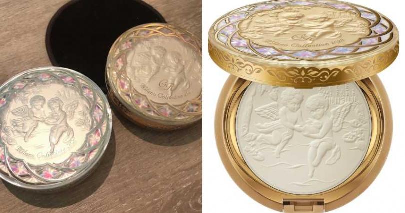 (右)kanbeo米蘭絕色美膚香體粉2020 GR 32g/2,700元(送粉撲) (圖/黃筱婷攝)