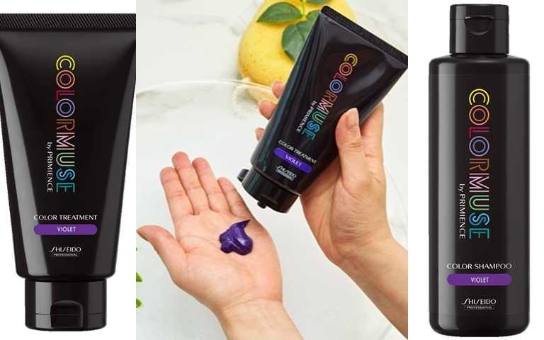資生堂專業美髮的「COLORMUSE潮色繆斯持色洗護組」,特別添加了紫色的色素成分,可持續維護淺髮原有的美麗色調。(圖/品牌提供)