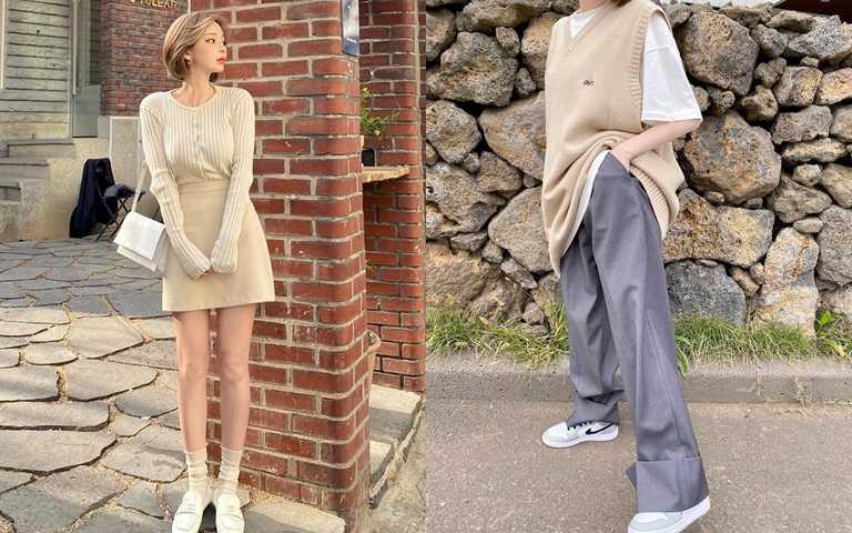 以今年流行的寬版褲或短裙來取代緊身褲,不僅更好看,也不怕讓私密處悶出一身病。(圖/IG@taeri_taeri)