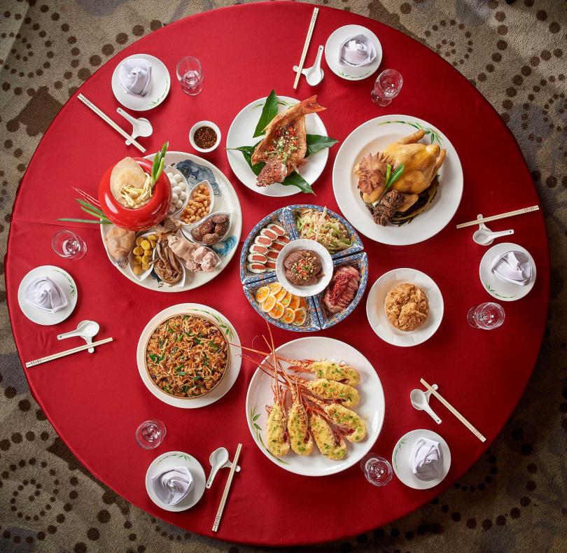 圖為「蓬萊邨」所推出的六人份年菜。