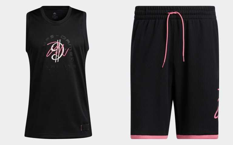 Dame 7 EXTPLY無袖上衣H50845/1,890元;Dame 7 EXTPLY運動短褲(黑)HB7885/ 1,490元(圖/品牌提供)