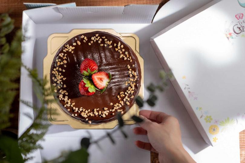 「法芙娜巧克力甘納許」。(950元/6吋,圖/Pinkoi提供)
