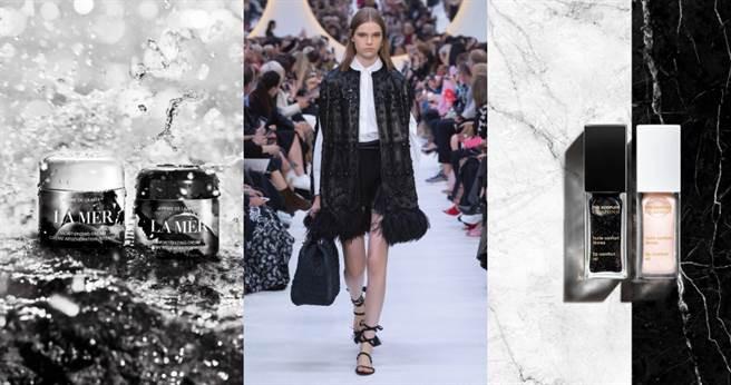 美妝界掀起黑白誇界合作外包裝風潮。(圖/各品牌提供,秀圖/valentino)