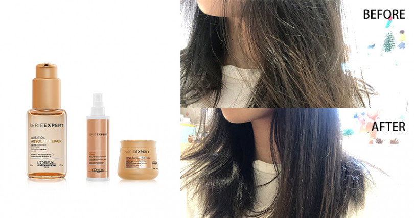 L'OREAL PROFESSIONNEL絲漾博賦活小麥胚芽油50ml/NT720,髮膜、噴霧整組用效果更好。(圖/品牌提供)