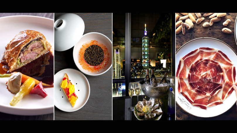 跨年於47樓高空餐廳室內外,享香檳、生蠔等特餐,邊賞台北101煙火!(圖/Chefs Club Taipei)