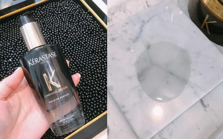 KERASTASE黑鑽極萃逆時玫瑰香氛露100ml /2,500元(圖/黃筱婷攝)