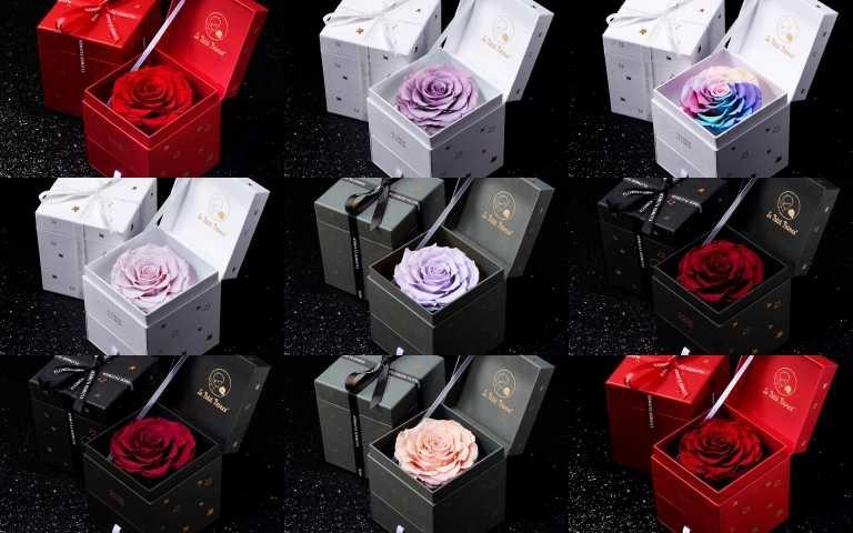 玫瑰界的愛馬仕品牌《FLOWER FLOWER花的》特別與小王子Le Petit Prince攜手聯名,推出B612 Heart厄瓜多永恆玫瑰花禮,共12款(圖/品牌提供)