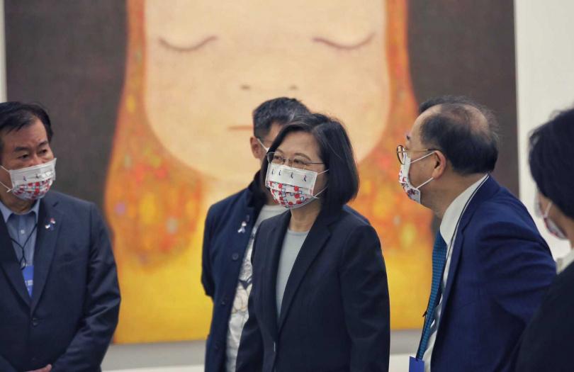 總統蔡英文出席開幕式,表示歷經十個月能促成展覽歸功於台日長久以來累積的情感。