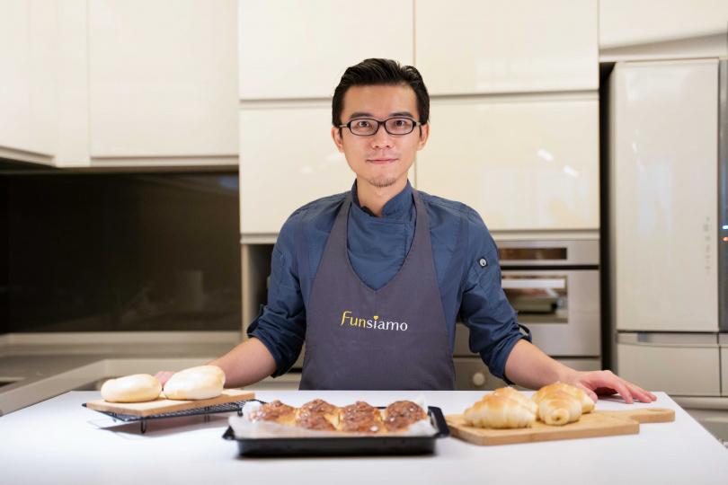 武子靖老師將多年累積的獨門經驗,以在家做麵包的起手式一次傳授。(圖/Funsiamo)