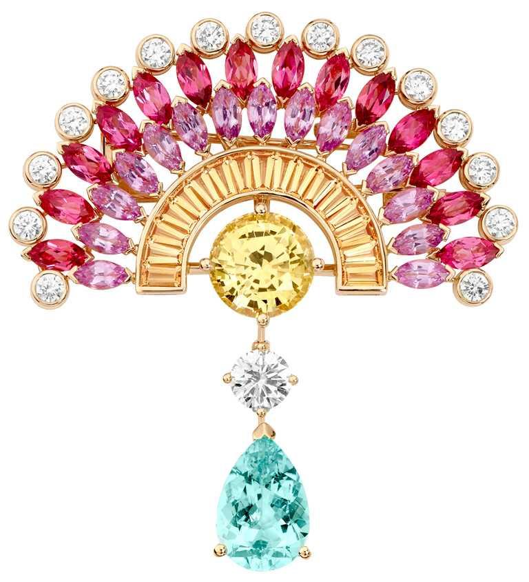 PIAGET「Limelight Sunny Side of Life」系列,頂級珠寶鑽石胸針╱7,200,000元。(圖╱PIAGET提供)