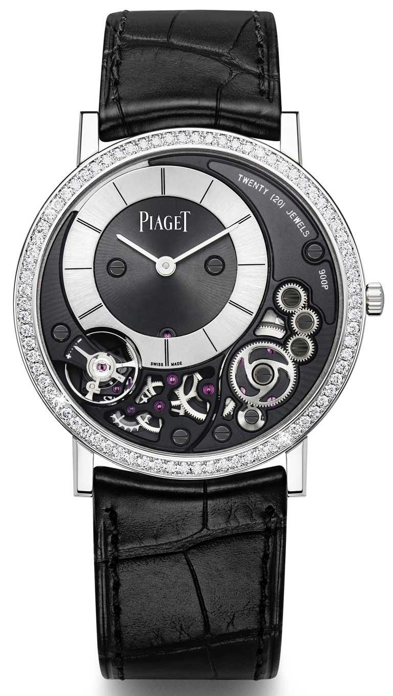 PIAGET「Altiplano」系列,超薄手動上鏈鑽石腕錶╱1,050,000元。(圖╱PIAGET提供)