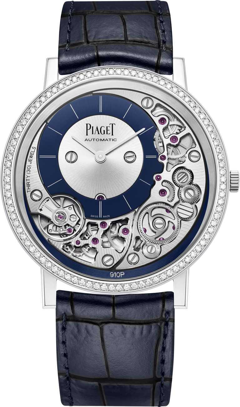 PIAGET「Altiplano」系列,Ultimate自動上鏈腕錶╱1,250,000元。(圖╱PIAGET提供)