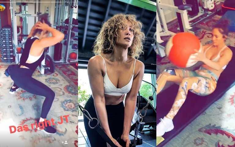 JLo的健身教練曾透露,JLo對於各種不同運動都願意嘗試,舉凡重量訓練、拳擊有氧、深蹲…都會出現在她的健身菜單中。(圖/翻攝網路)