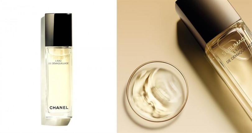香奈兒奢華金燦高機能卸妝水 125ml/3,350元  高效玻尿酸會在臉部肌膚形成一層隱形薄膜,不須再以清水沖洗就能清潔、保養一次完成,尤其適合有植睫毛跟懶人症的女孩。(圖/品牌提供)
