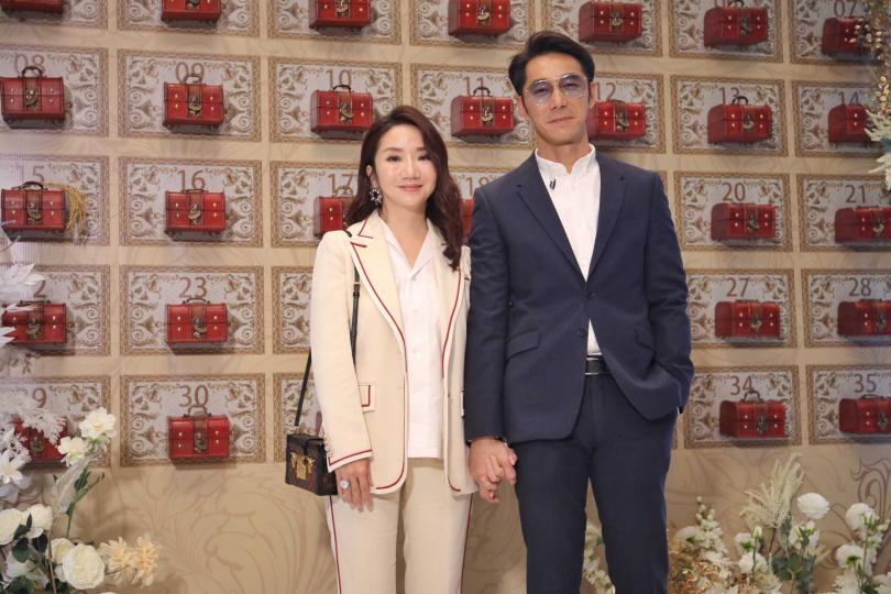 陶晶瑩、李李仁夫妻。(圖/張祐銘攝影)
