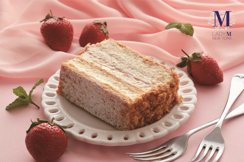 草莓千層酥。(圖/Lady M提供)