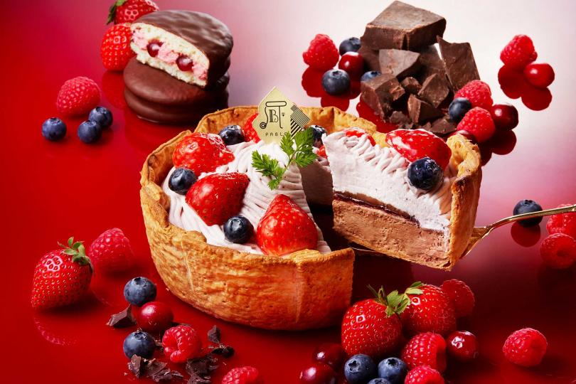美莓四重奏巧克力起司塔。(圖/PABLO提供)