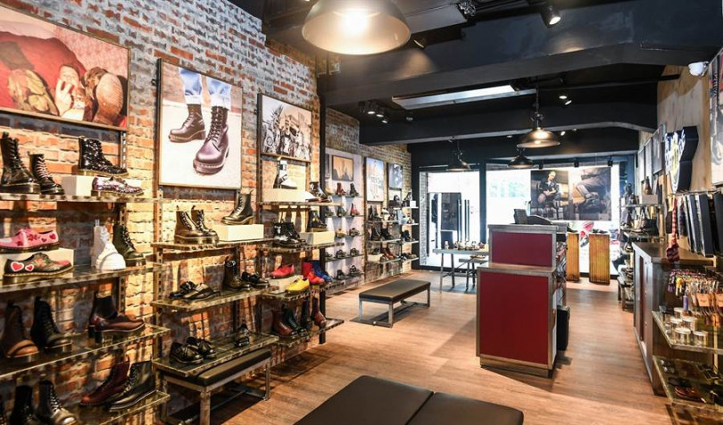 以英倫風全新改造的Dr. Martens台北西門店,將以煥然一新的樣貌帶來零時差的馬汀時尚/圖片來源:Dr. Martens Taiwan
