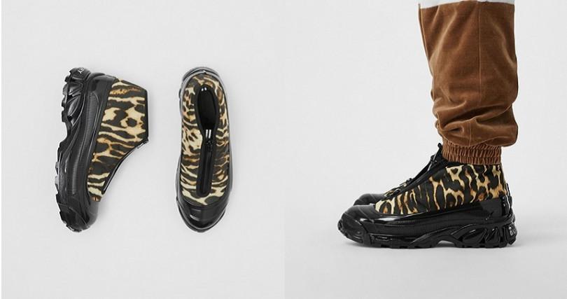 豹紋尼龍和麂皮Arthur運動鞋TWD30,900(圖/翻攝自Burberry官網)