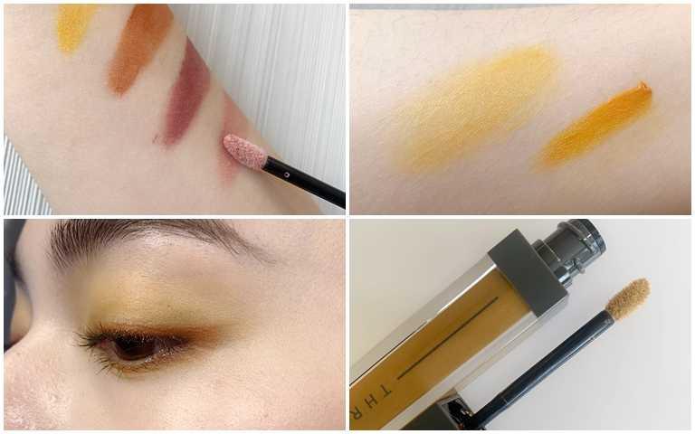 刷頭不只能大面積刷塗也能描出眼線線條,不管單擦或像模特兒這樣眼影+眼線的方式疊擦都很好看。(圖/吳雅鈴攝影)