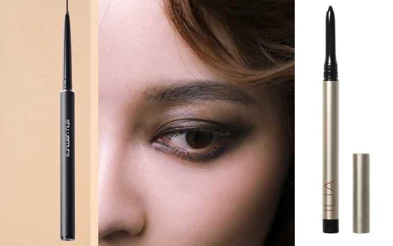記得想要暈染的話,眼線膠筆會比眼線液筆更適合。shu uemura 3D極細防水眼線膠筆 #墨黑/900元、ILIA一筆柔滑眼線膠筆 #黑夜星辰 0.3g/950元(圖/戴世平攝、品牌提供)