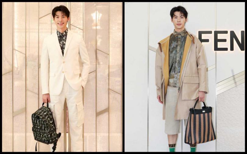 許光漢穿了2020 Fendi春夏男裝系列。(圖片/焦正德攝影)