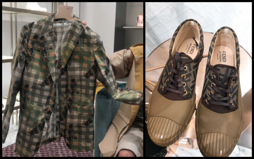 許光漢最喜歡的外套單品,這次男裝由Silvia Venturini Fendi 邀請 Luca Guadagnino 擔任 FENDI 2020春夏男裝系列客座設計師,右邊這雙鞋還難得是made in japan的不是出自羅馬,想收藏要快唷!(圖片/黃筱婷攝影)