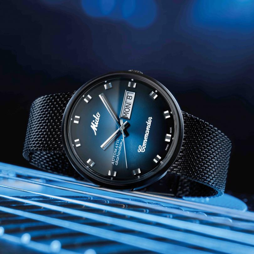 MIDO「Commander Shade香榭系列」光影腕錶╱29,500元。(圖╱MIDO提供)