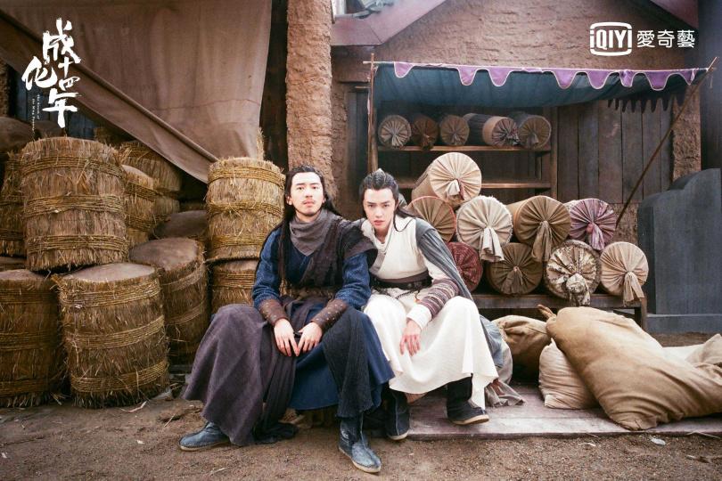 官鴻(右)、傅孟柏首次合作拍戲就培養出好默契。(圖/愛奇藝台灣站提供)