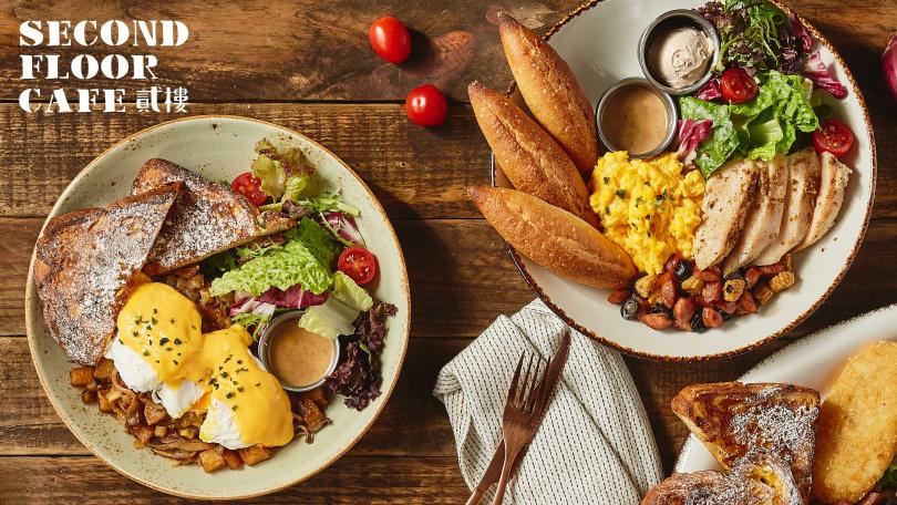不管是食材的豐富度、烹調手法以及餐品內容的均衡上,店內早午餐都極受客人喜愛。(圖片提供/貳樓)