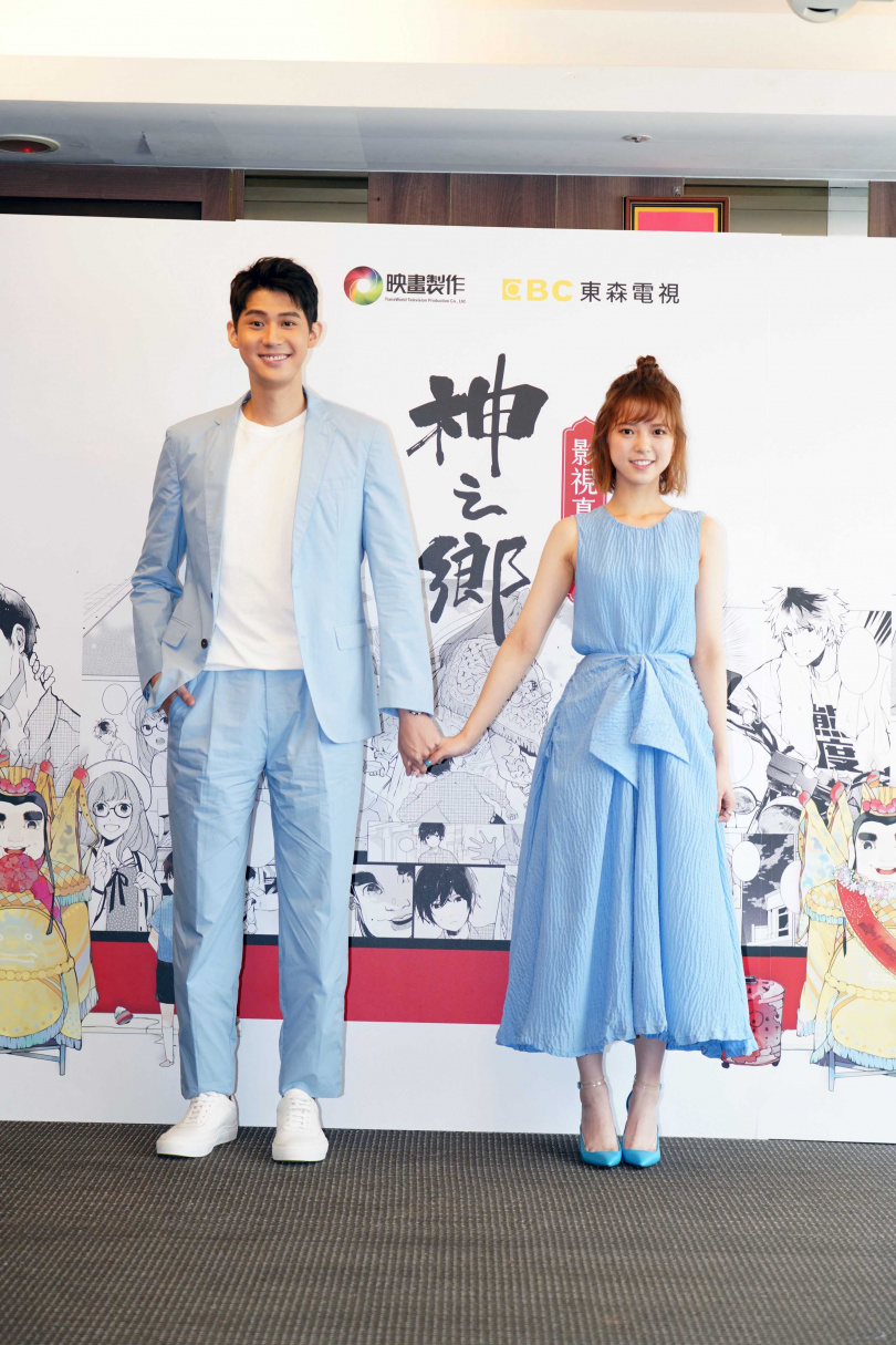 李玉璽、項婕如身高相差25公分,男帥女美畫面和諧。(圖/映畫製作)