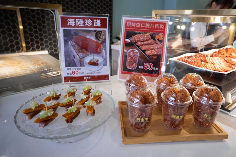 現烤現吃的「肉乾杯杯」跟「烏魚子叉燒串」,滋味令人難忘。