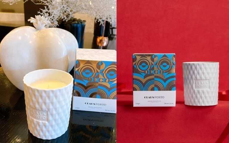 CLAUS PORTO菱紋白瓷香氛蠟燭(全新上市)(270g,原價2,580元,聖誕價2,270元)(圖/品牌提供、黃筱婷攝影)